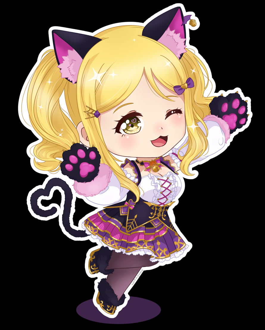 I'm a sucker for cat girls, halloween outfits,  and  puffy sleeves... this mari card killed me