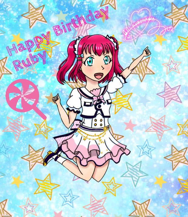 🍭🎊Happy  late  Birthday Ruby 🎊🍬  Your my best Girl. I hope you like my drawing I made for you. 🥰