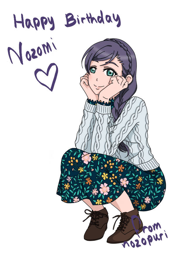 It's my best girl's birthday! Happy birthday Nozomi!  I'm happy with how this turned out :  still...