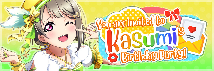 Kasumi's Birthday Party        Thanks to everyone who participated and helped make this event a...