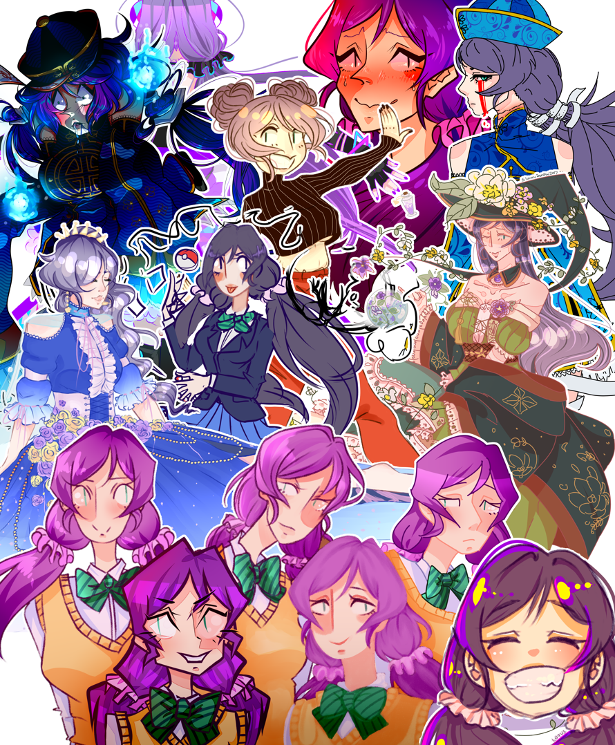 I decided to throw together every single  finished  Nozomi drawing from the past 2 years. Not a lot,...