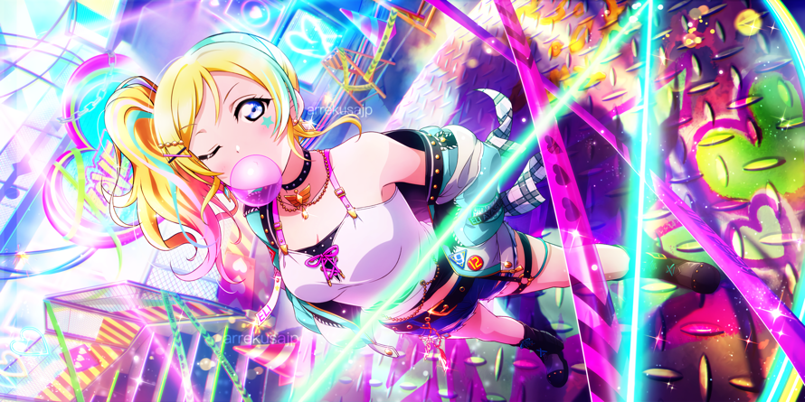 I really loved this week's event cards so I made a Edit of Kotori Minami   Eli Ayase and i think it...