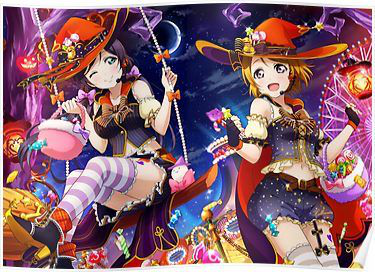 Happy halloween! I found this photo online with Nozomi and Hanayo. Enjoy! :