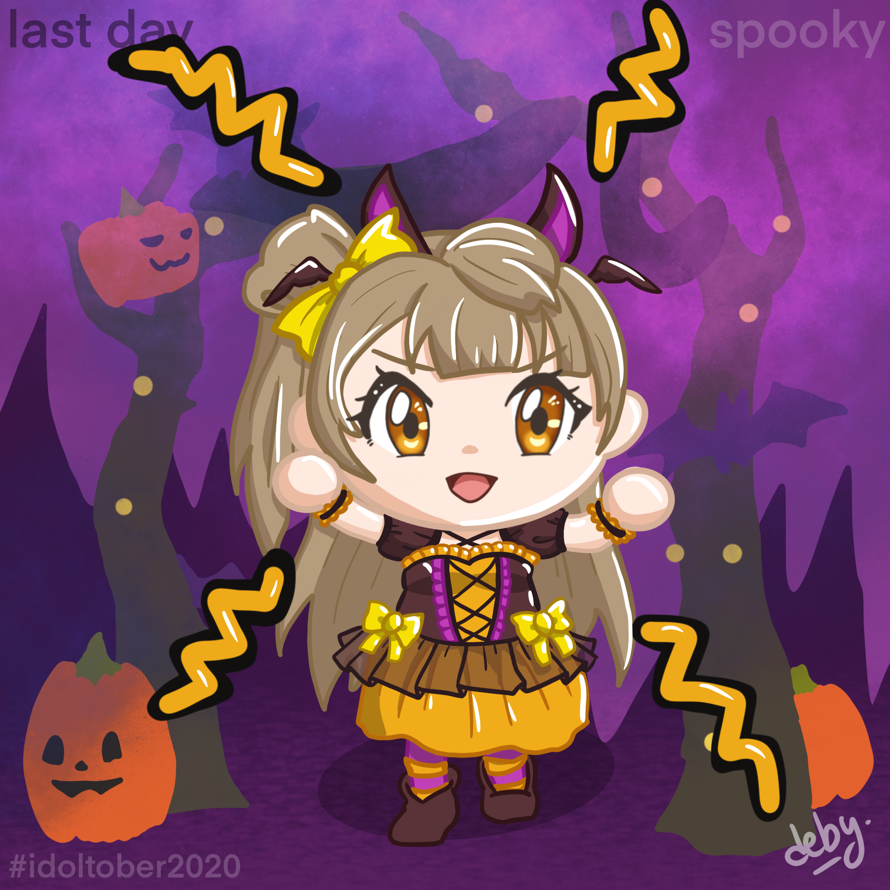 Last day: Spooky  I didn't do anything IRL for Halloween, so I played the Halloween event in Animal...