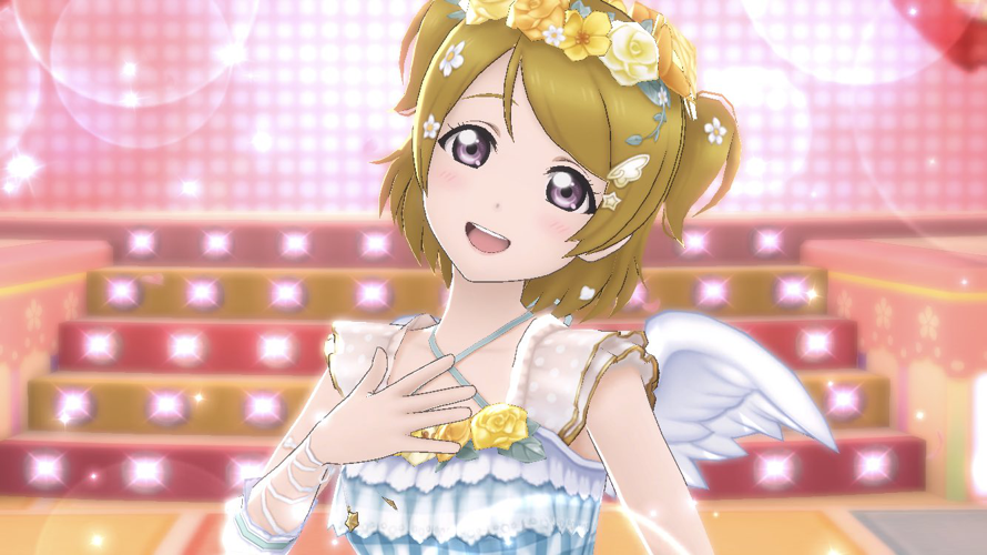 I got event Hanayo a few days ago, she is so gorgeous.. an angel ♡♡♡ ;;