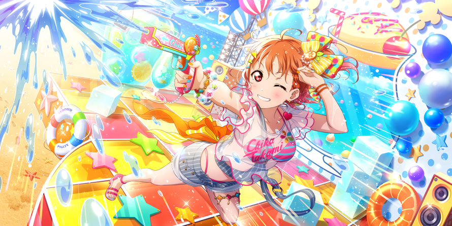 Chika looks like Hagumi i this card, ngl.O /O