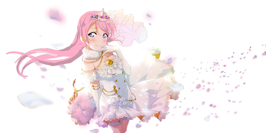 I tried to edit Eli's wedding UR to be Megurine Luka, so like yeah :