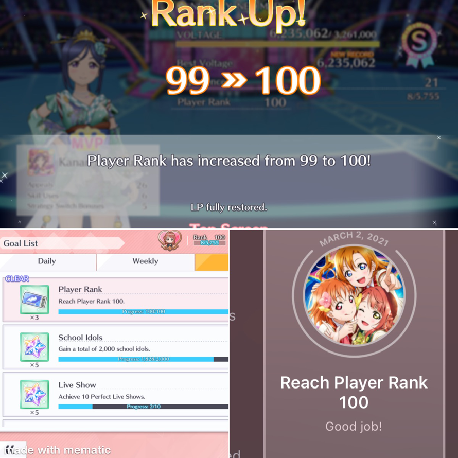 I am now a member of the triple digits club! Level 100 let's gooooo