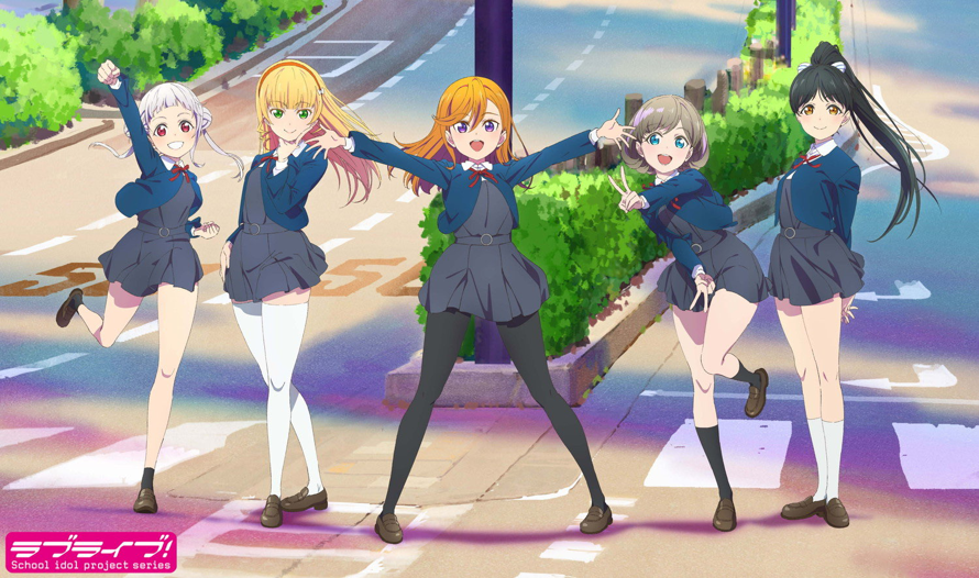 5 key characters from the newest LoveLive! project have been revealed!! Their names from left to...