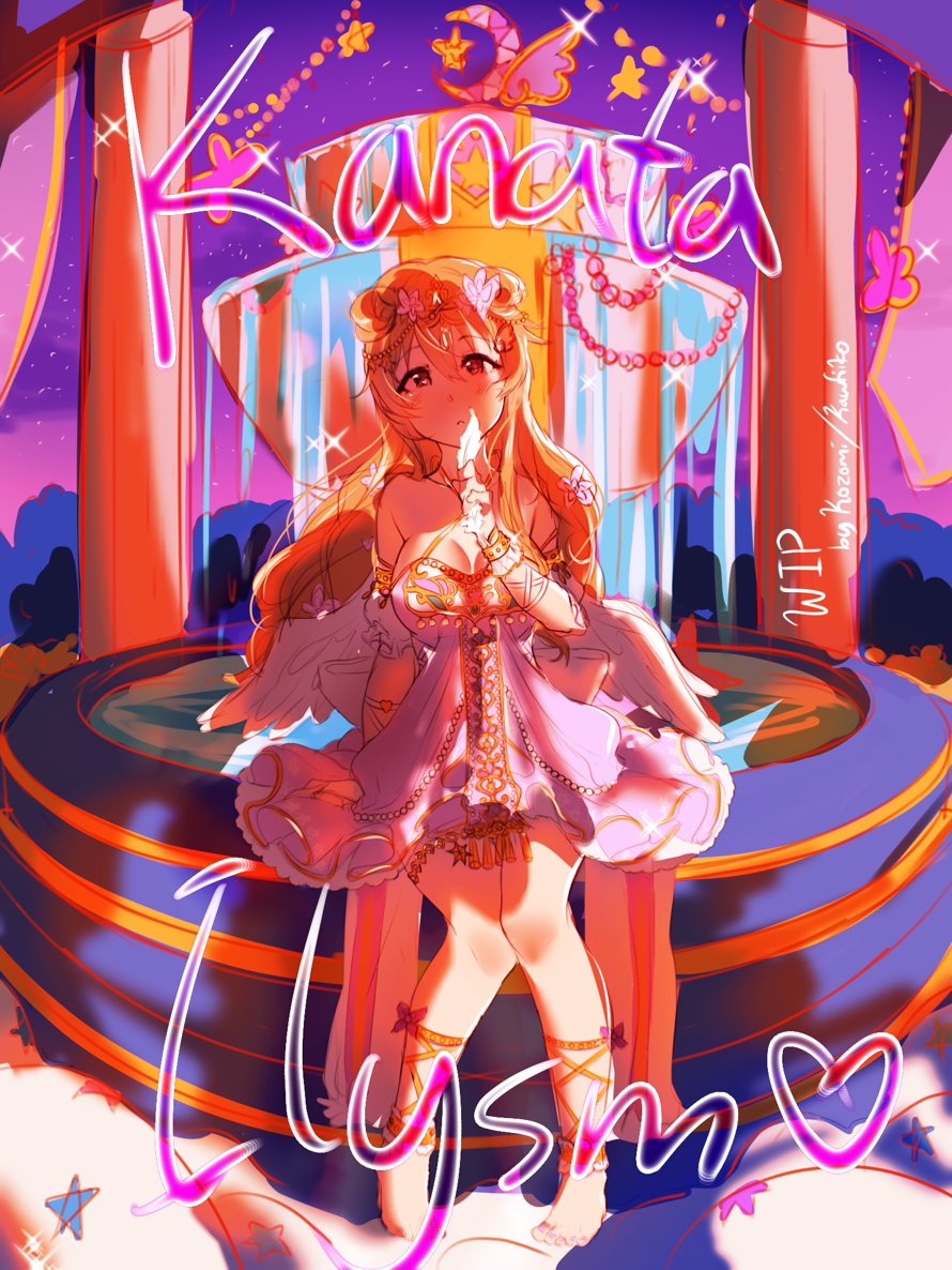 WIP: Drew skufes Kanata  AKA THE PRETTIEST CARD IN SIFAS  it'll take me a while to finish cuz this...
