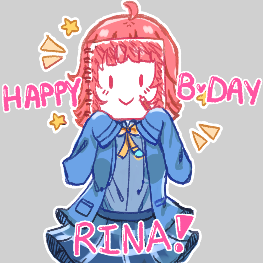 HAPPY BIRTHDAY TO THE CUTEST IDOL IN THE WORLD, ILY RINA !!