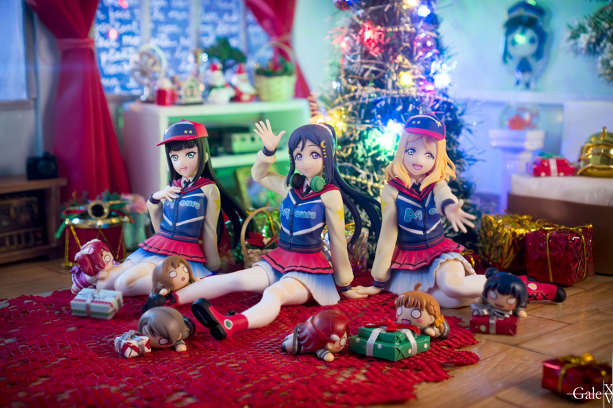 Aqours Third Years' Christmas set.   Latest shoot for Dia, Kanan, and Mari. I figured their Bokura...