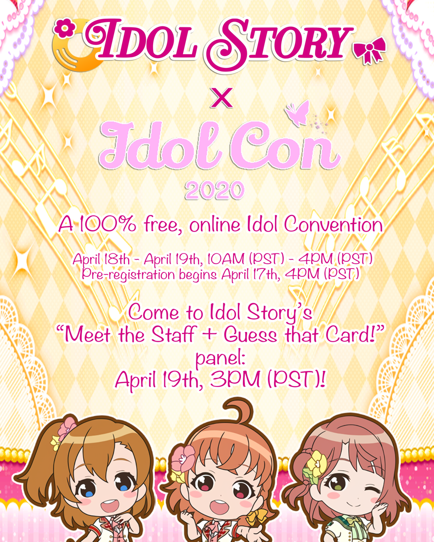 "Idol Story is going to IdolCon 2020!      ""What is IdolCon?""    IdolCon is a free, viritual..."