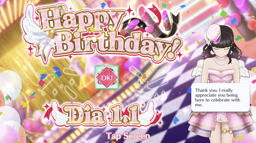 Happy birthday dia! Hope you have a wk derail New Years birthday!