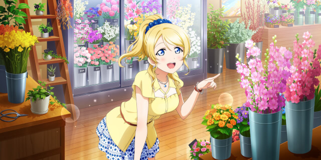SR Ayase Eli 「Wow! These Flowers are Gorgeous! / Bokura no LIVE Kimi to no LIFE」