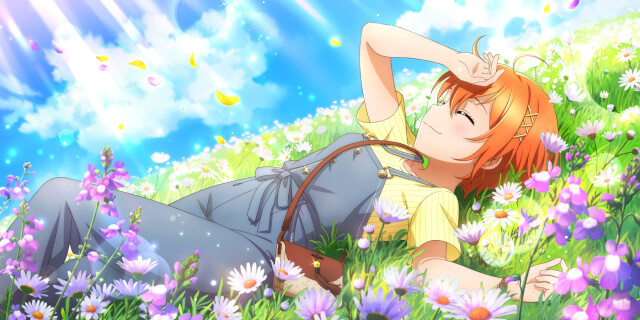 UR Hoshizora Rin 「It feels so good to lay around~ / signs of spring」